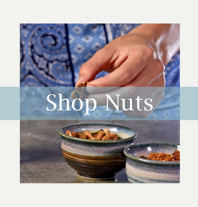 Sprouted walnuts almonds pumpkin seeds sunflower seeds trail mix from Auroville