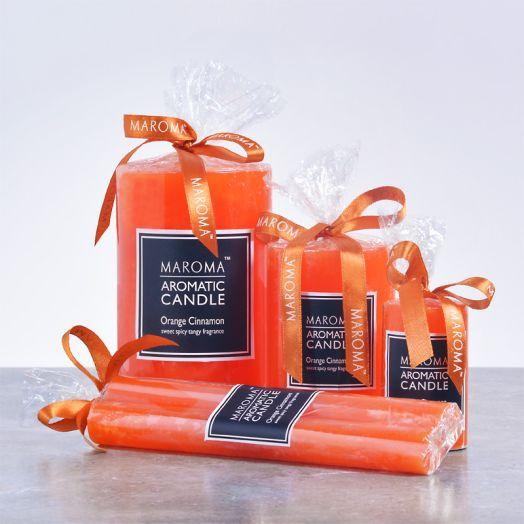 Perfumed Orange Cinnamon Candles
