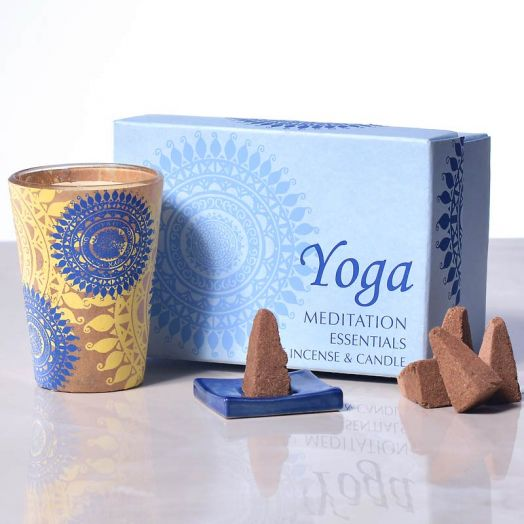 Cones and Votive Gift Set - Yoga