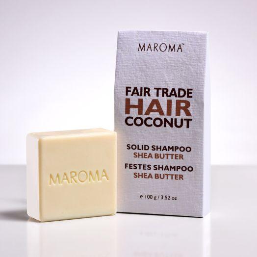 COCONUT SOLID SHAMPOO BAR - NO FRAGRANCE & SHEA BUTTER