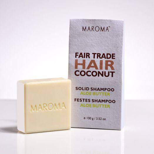 COCONUT SOLID SHAMPOO BAR - ALOE  BUTTER