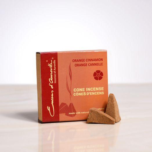 Encens d'auroville - Orange Cinnamon Cone Incense