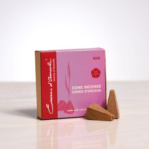 Encens d'auroville - Rose Cone Incense