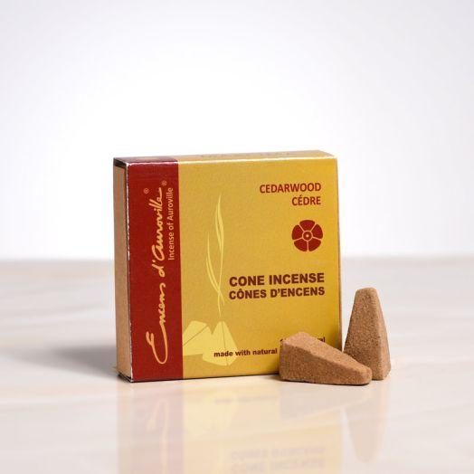 Encens d'auroville - Cedarwood Cone Incense