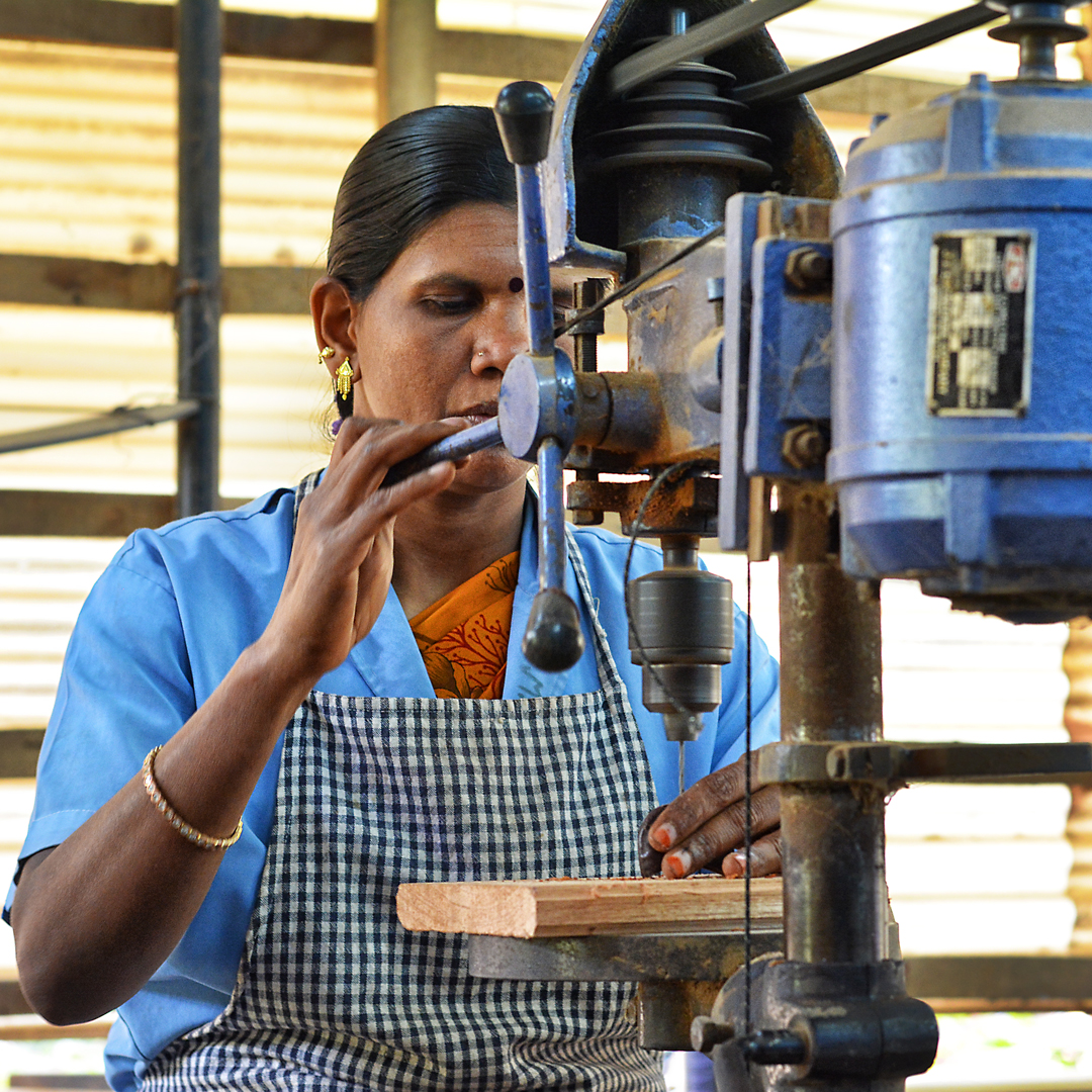 Svaram works with people from Aurovilles surrounding villages only.
