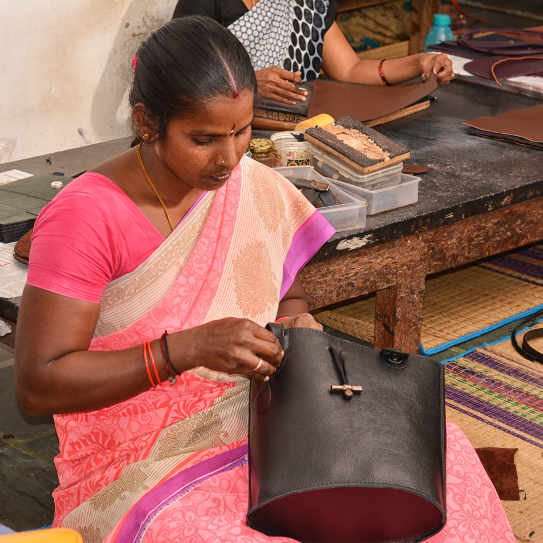 Handcrafted leather goods from AUroville
