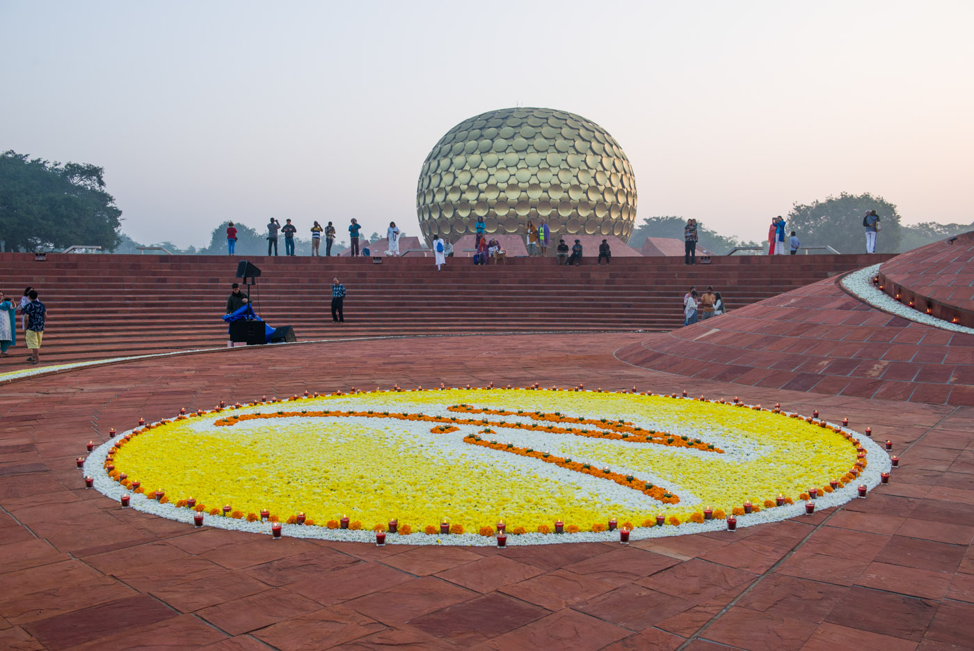 Morning Meditation at Matrimandir